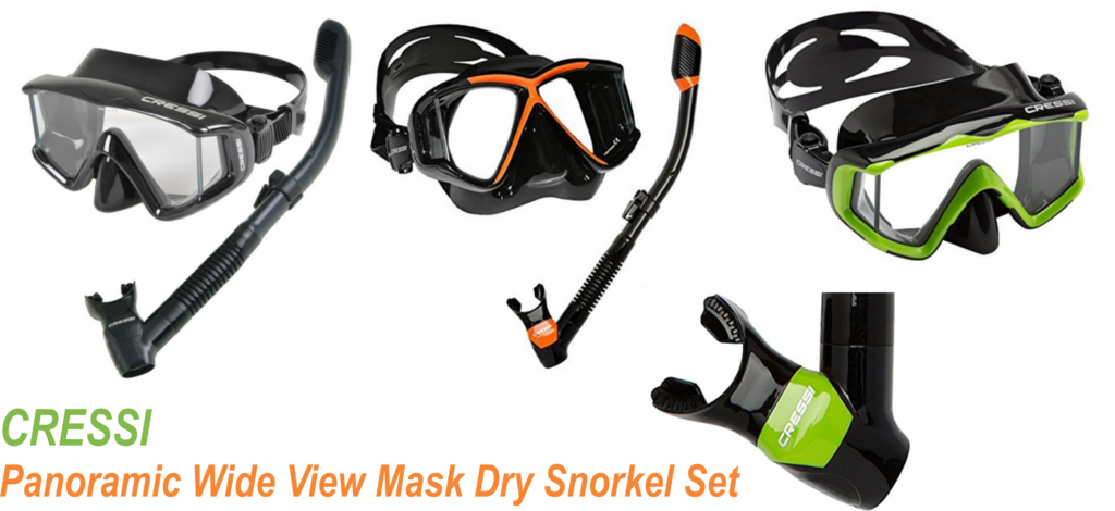 Cressi Panoramic Wide View Mask Dry Snorkel Set Buy